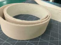 Leather Strip Natural Veg Tanned 8/9 Oz Strapping  Two (2) Inches Wide STRAP