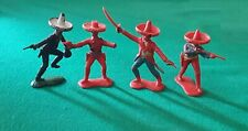 CRESCENT TOY - 4 MEXICANS - PLASTIC - MADE IN ENGLAND
