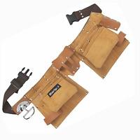 BlueSpot Professional Heavy Duty Leather Double Tool Belt & Hammer Holder