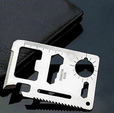 2016 Multi Tool 11in1 Hunting Survival Camping Pocket Military Credit Card Knife