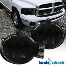For 2002-2008 Ram 1500/2500/3500 2004-2006 Durango Smoke Fog Lights Lamp+Bulbs