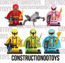 Lego 5pcs Power Ranger Super Action Figures Custom PAD UV Printed Minifigures