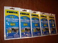Rain‑X® Glass Cleaner + Rain Repellent Enhance Driving Visibility 5 Single Packs