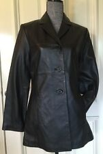 Sonoma Genuine Leather Jacket Women's Size Small Color Black Brand New $250
