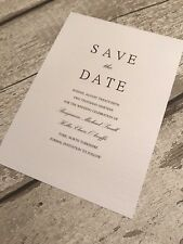 10 Personalised Simple Save The Date Cards