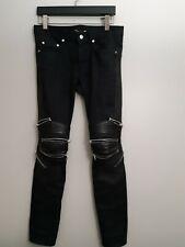 Saint laurent ysl Biker Denim Jeans Zipper
