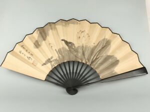 Chinese Exquisite Handmade Lotus word Folding fan