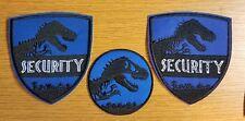 Jurassic World Park Security  Blue Uniform/Costume Patch Set of 3
