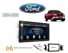 2004-2006 FORD F150 PICKUP DDIN CAR STEREO KIT, BLUETOOTH USB TOUCHSCREEN DVD