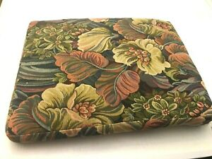 """Vintage Print Tapestry Floral Chair Cushion 19 x 24"""""""