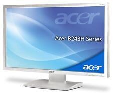 "ACER b243hl 24"" 1920 x 1080 250 cd/m² DVI VGA integrata. Altoparlanti Bianco"