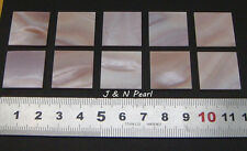 5pcs Pink Mother of Pearl Square Inlay Blank Genuine Solid,20x20x1.3mm