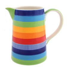 Rainbow Stripe Design Ceramic One Pint / 500ml Jug - BNWT