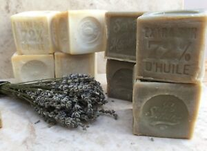 French soap, savon de marseille, artisan olive oil soap, natural PLASTIC FREE