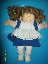 CABBAGE PATCH KIDS DOLL TALKING GIRL HTF. working in blue dress
