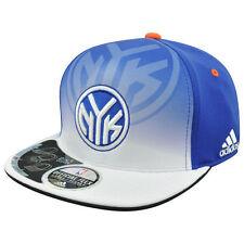 ADIDAS NEW YORK KNICKS ROYAL BLUE-WHITE LARGE/X-LARGE FLEX FIT PERFORMANCE HAT