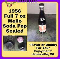 MELLO BEVERAGE BOTTLE 7oz 1956 JANESVILLE WI SODA BOTTLE POP BOTTLE Rare Vintage