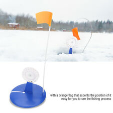 Ice Fishing Rod with Flag Hole Cover Round Tip-Ups Fishing Equipment