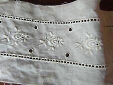 mercerie ANCIENNE bande broderie anglaise 1.10x6cm☺