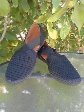 Womens Bernie Mev. Black Woven Slip-on Flats  Shoes Sandals EU 38 US 7.5-8 Comfy