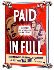 Paid in Full 1950 DVD Lizabeth Scott, Robert Cummings, Diana Lynn- FREE SHIPPING