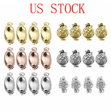 4 Plated Alloy Clasps Connectors Buckle Jewelry for DIY Bracelet Necklace Making