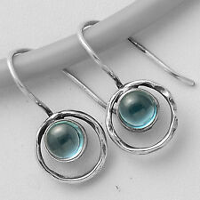 London Blue Topaz Cabs 925 Sterling Silver Earrings Jewelry SDE5027