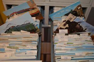 1000 verschiedene  Ansichtskarten Eisenbahn Train Railway Deutschland und Welt