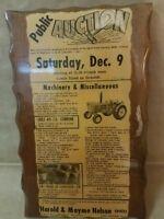 !Vintage! 1972 Auction Newspaper Aurora Nebraska(Wood shellac) Read Description!