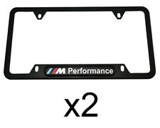 BMW ALL Series USA Standart M Performance License Plate Frames 2 PC NEW