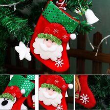 Christmas Santa Socks  Ornaments Festival Party Xmas Tree Hanging Decor Sock