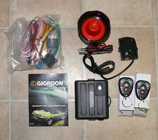 GIORDON Quality Car Alarm System Engine Immobilizer Central Locking 2 REMOTES