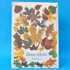 Bunter Herbst | Bastelbogen | Junge Welt 1984 | Basteln DDR Kindergarten