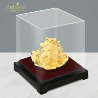 Gold Foil Frog Feng Shui Money Toad Chinese Golden Frog Lucky Wealth Home decor
