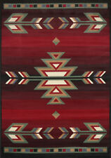 "Southwest Contemporary Area Rug 2x8 Runner Black Carpet - Actual 1' 10"" x 7' 3"""