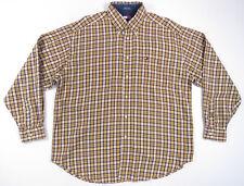 90S Tommy Hilfiger Amarillo Cuadros Eua Escudo con Botones Camisa HOMBRES L