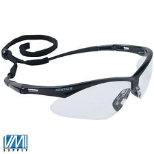 1 Pair JACKSON NEMESIS 3000355 Black Safety Glasses Clear Anti-Fog Lens 25679