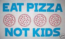 large eat pizza not kids eating contest funny crazy random tee vintage t shirt