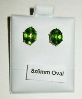 PERIDOT STUD EARRINGS 100% NATURAL PICK A SIZE!