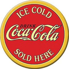 Coca Cola Ice Cold Sold Here round fridge magnet      (de)