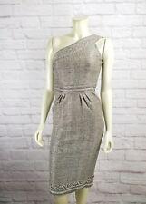 DVF Diane Von Furstenberg Sirabe One Shoulder Textured Dress Size 2 Nwt $595