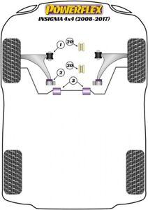 For Insignia VXR 4x4, Powerflex Suspension Bush Kit PETROL