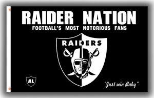 Oakland Raiders Football Flag RAIDER NATION 90x150cm 3x5ft Fans best banner