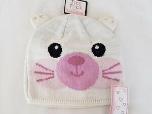 Babies girls  animal Cat face Beanie  winter hats cap (89B071)