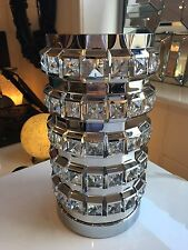 Mirrored Design Mirror Crystal Glass Touch Light Bedroom Lamp Touch Lamps