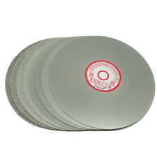 "Grit 240 Diamond coated 6"" inch Flat Lap wheel Lapidary lapping polishing disc"