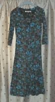Mudd and Water Ladies Pretty Floral Organic Cotton Dress With Stretch ~ Size 8
