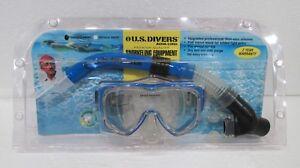 Vintage US Divers Aqua-Lung Manta Ray Snorkle and Mask Set SM/MED 1996 New