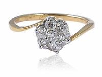 Pave 0,40 Carats Naturel Diamants Anniversaire Bague En 750 Estampé 18K Or jaune
