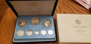 1975 FM Coinage of Belize Solid Sterling Silver Proof Set 8 Beautiful Birds